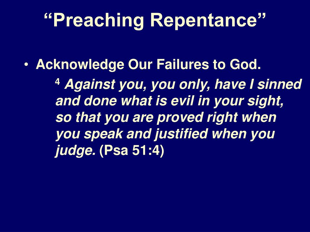 """Preaching Repentance"""