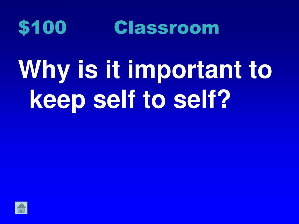 $100 Classroom