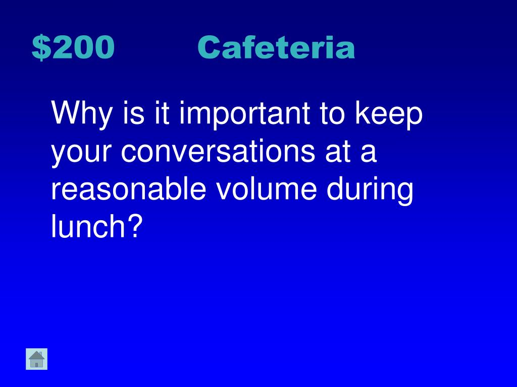 $200 Cafeteria