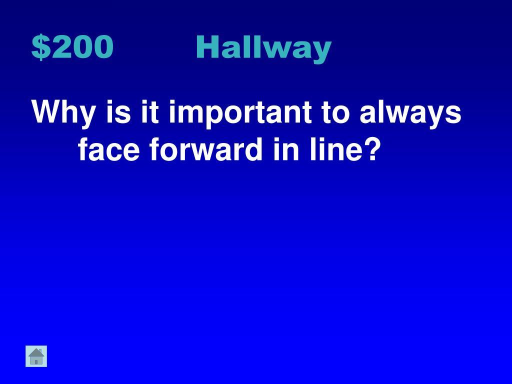 $200 Hallway