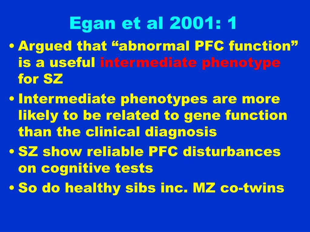 Egan et al 2001: 1