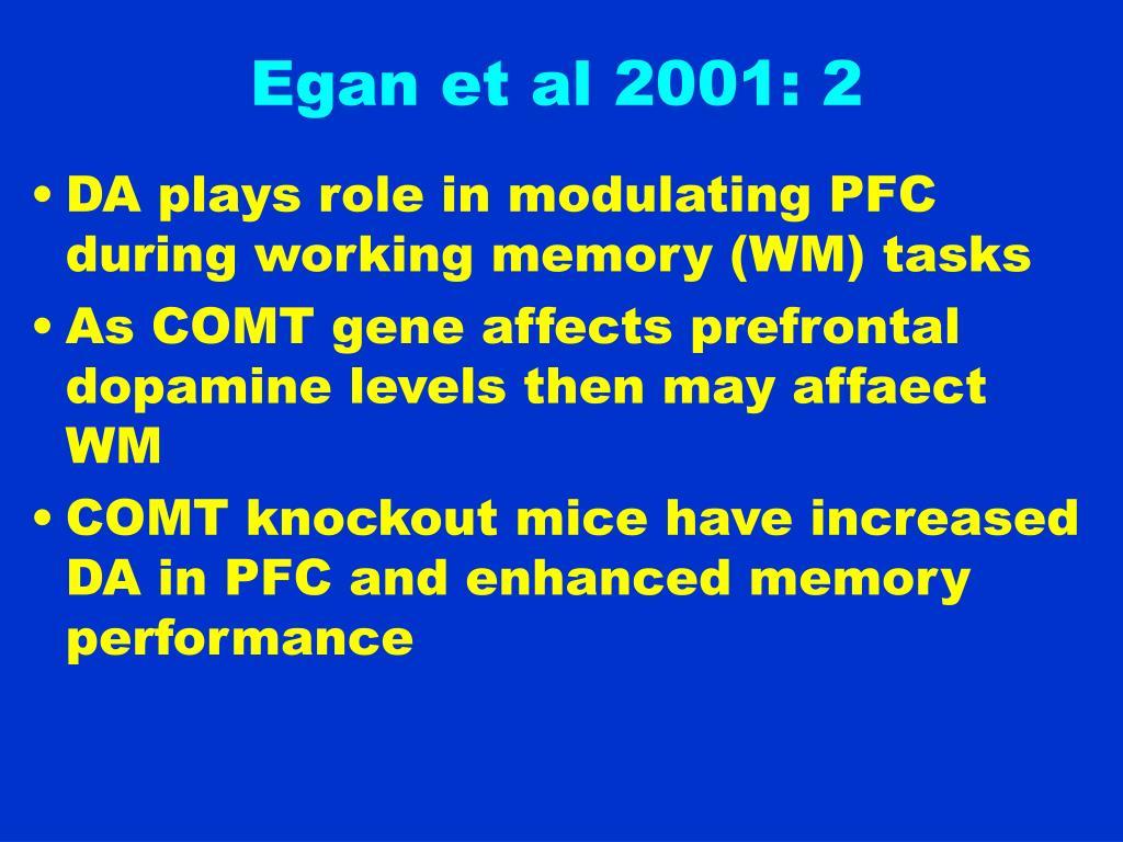 Egan et al 2001: 2