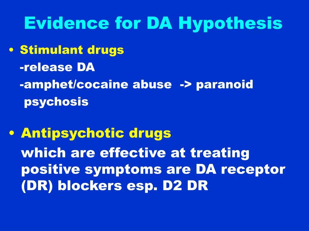 Evidence for DA Hypothesis