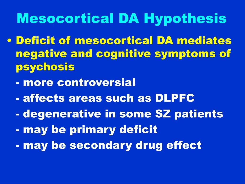 Mesocortical DA Hypothesis