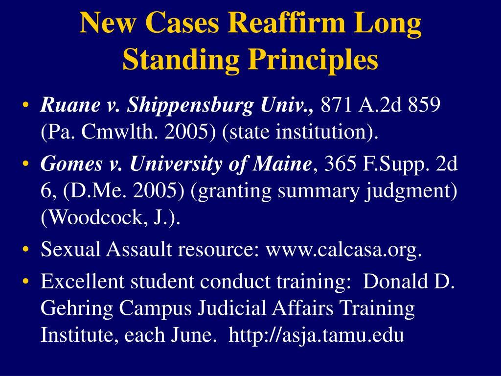 New Cases Reaffirm Long