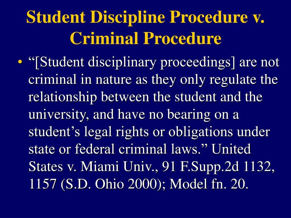 Student Discipline Procedure v.