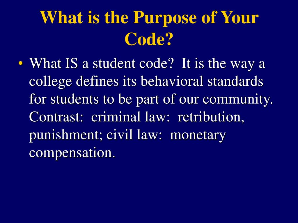What is the Purpose of Your Code?