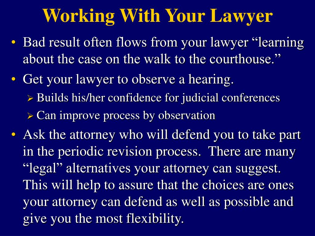 Working With Your Lawyer