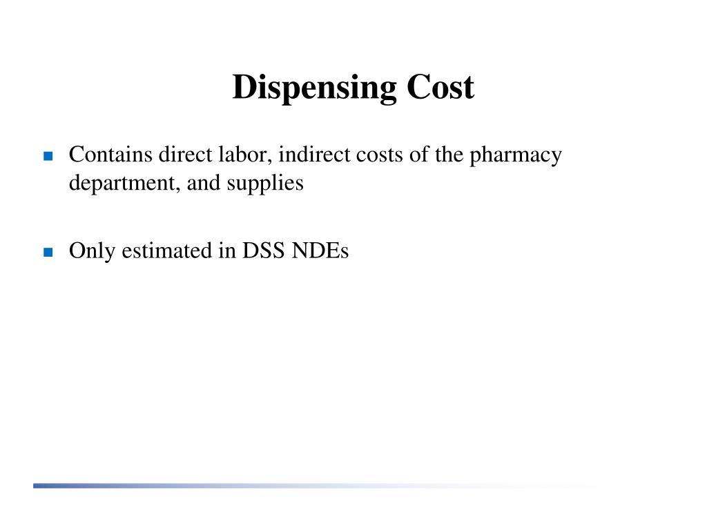 Dispensing Cost