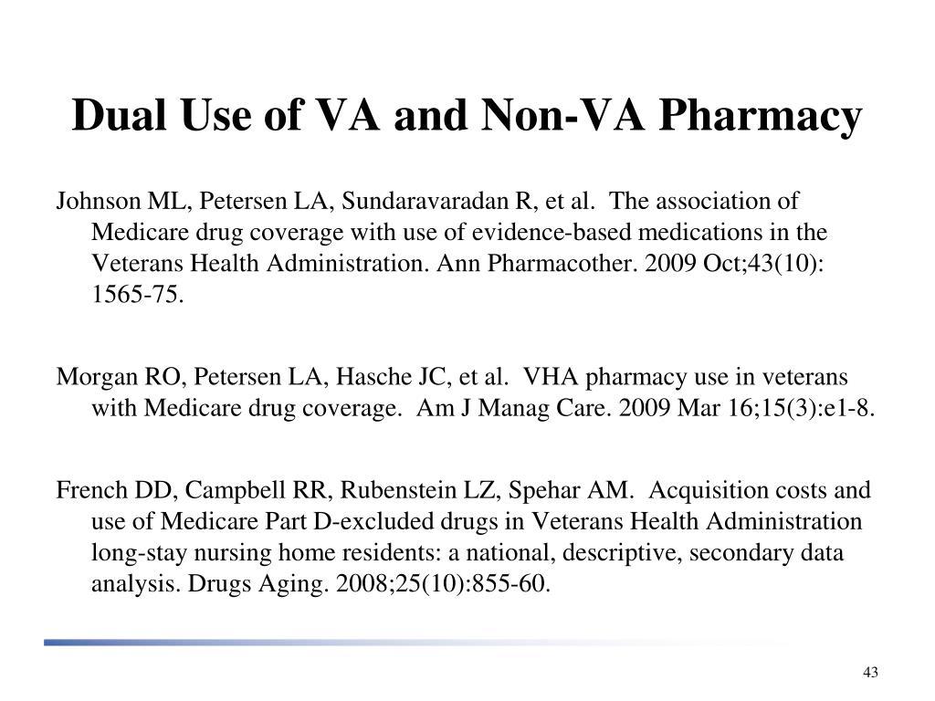 Dual Use of VA and Non-VA Pharmacy