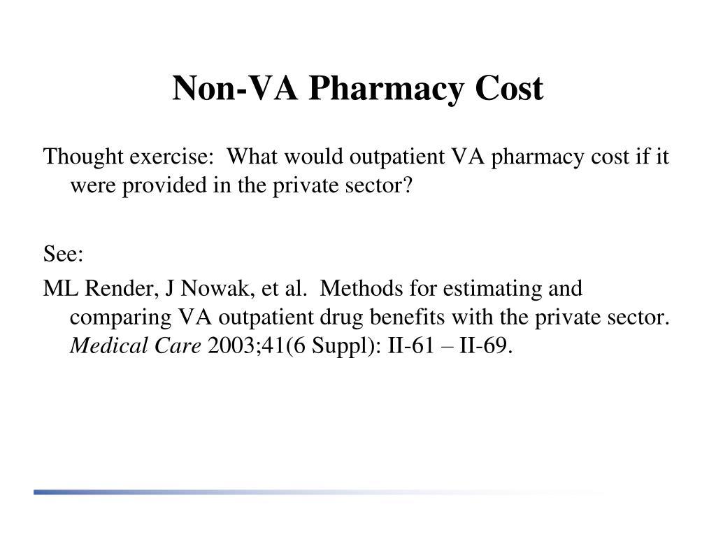 Non-VA Pharmacy Cost
