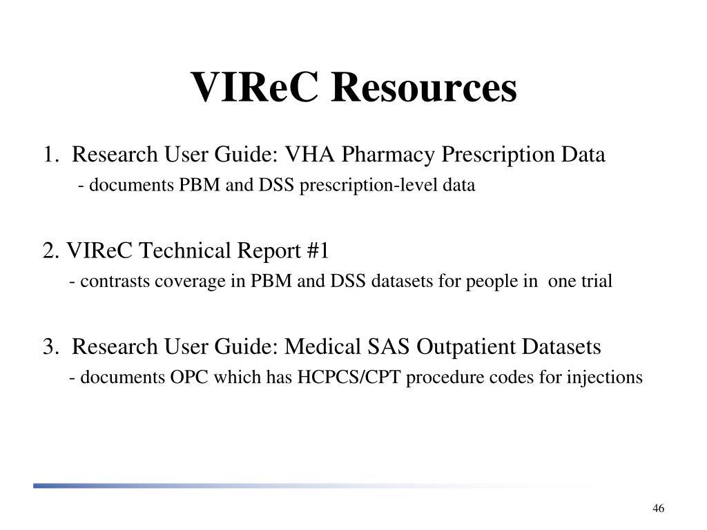 VIReC Resources