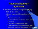 traumatic injuries in agriculture19