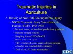 traumatic injuries in agriculture24