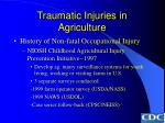traumatic injuries in agriculture26