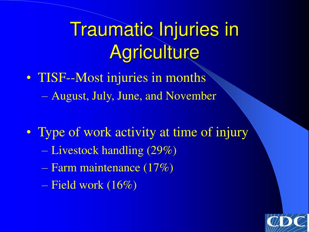 Traumatic Injuries in Agriculture