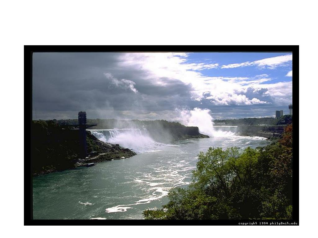 Both falls…the falls help to produce HEP