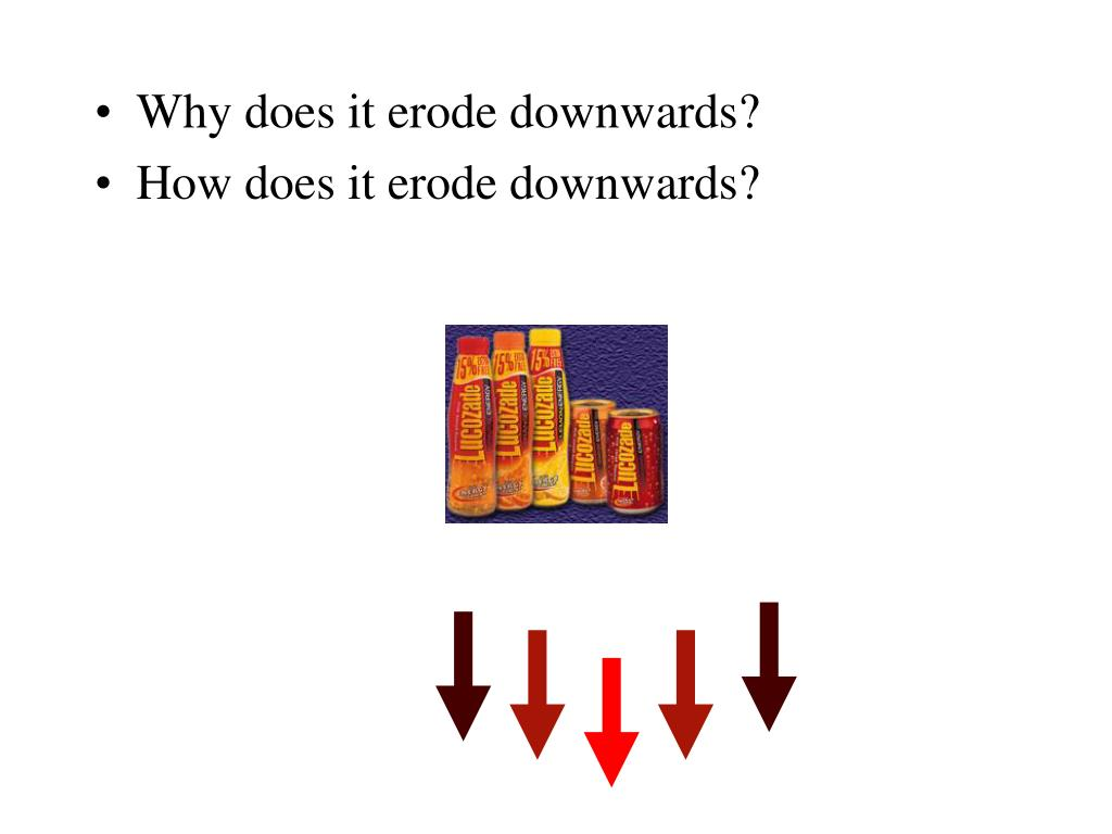 Why does it erode downwards?