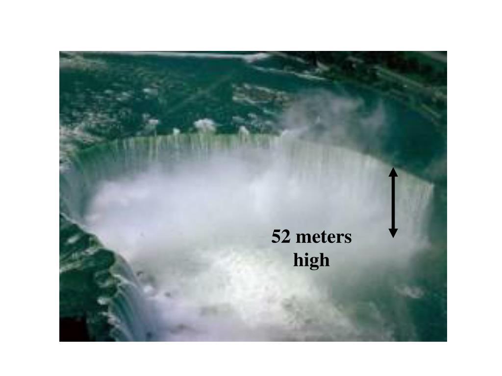 52 meters high