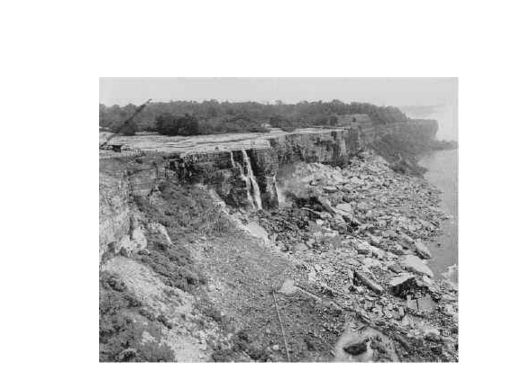 The Falls were stopped in 1969 to see if debris could be removed to improve the  look