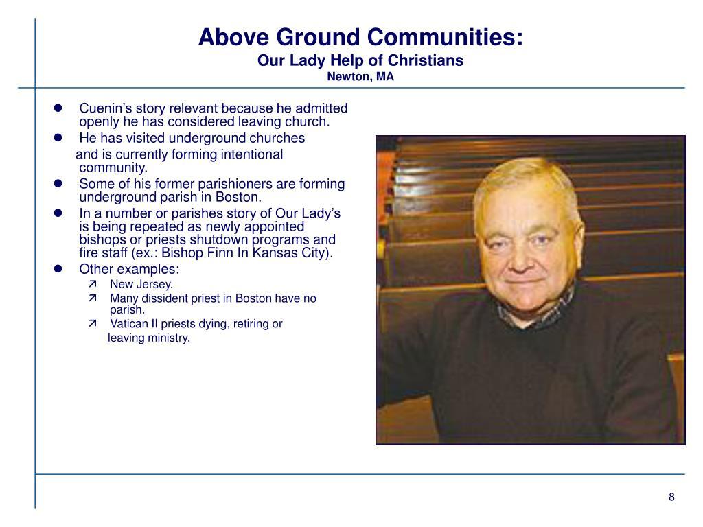 Above Ground Communities:
