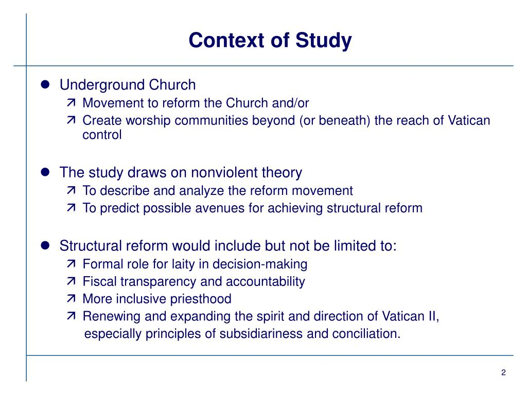 Context of Study