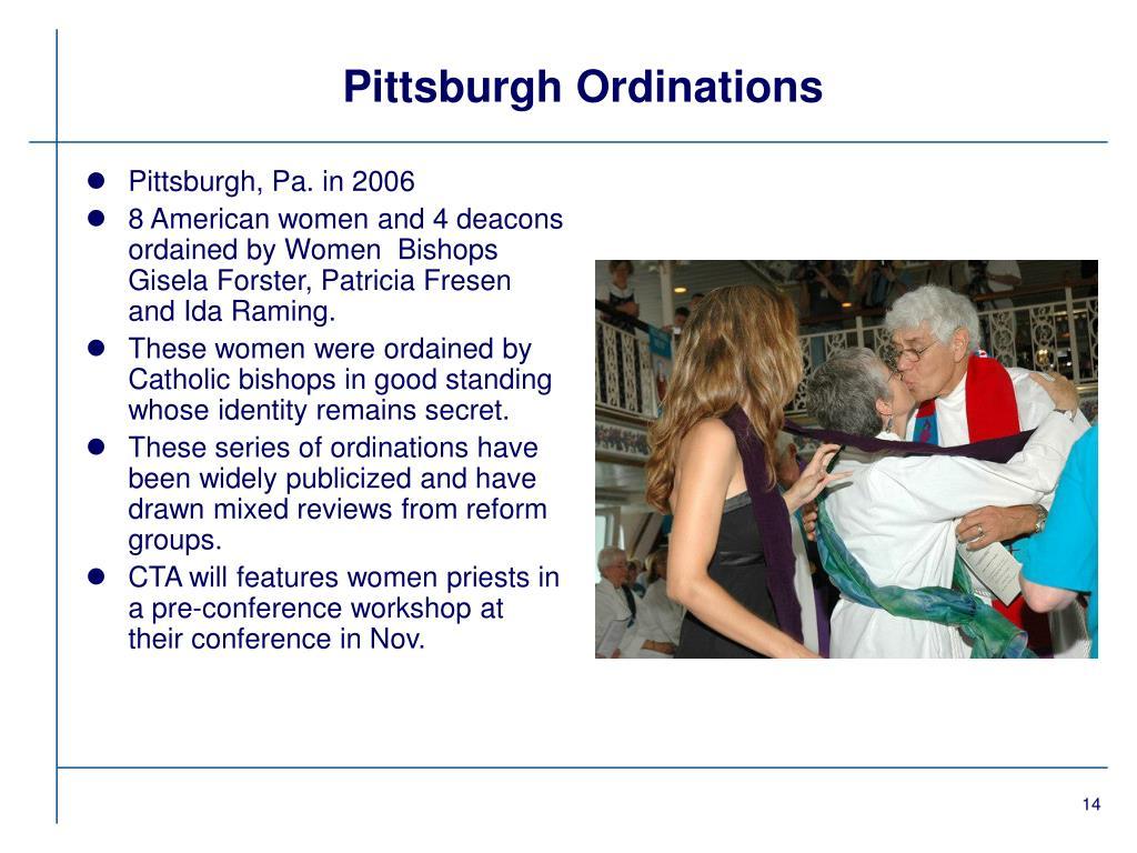 Pittsburgh Ordinations