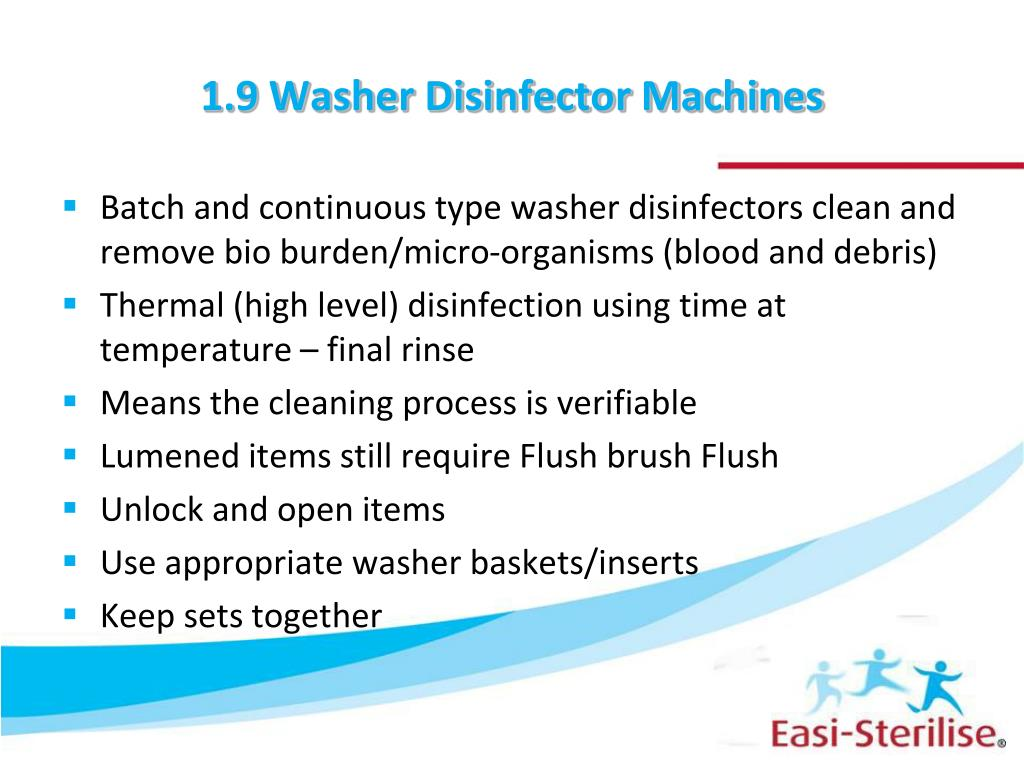 1.9 Washer Disinfector Machines