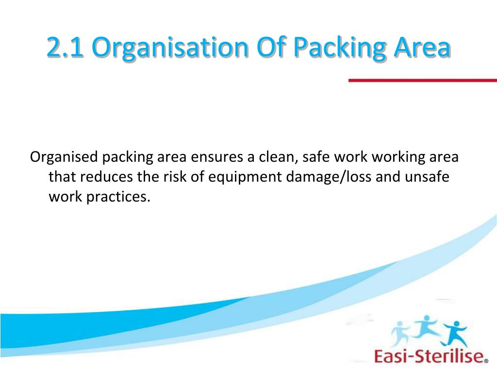2.1 Organisation Of Packing Area