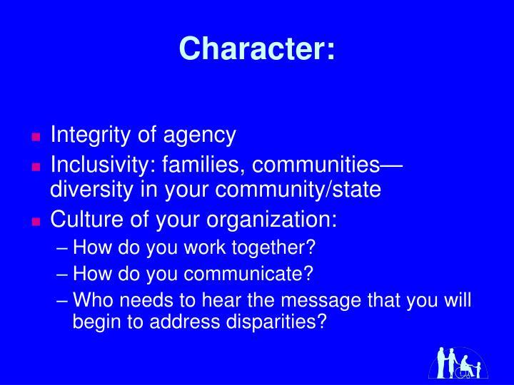 Character: