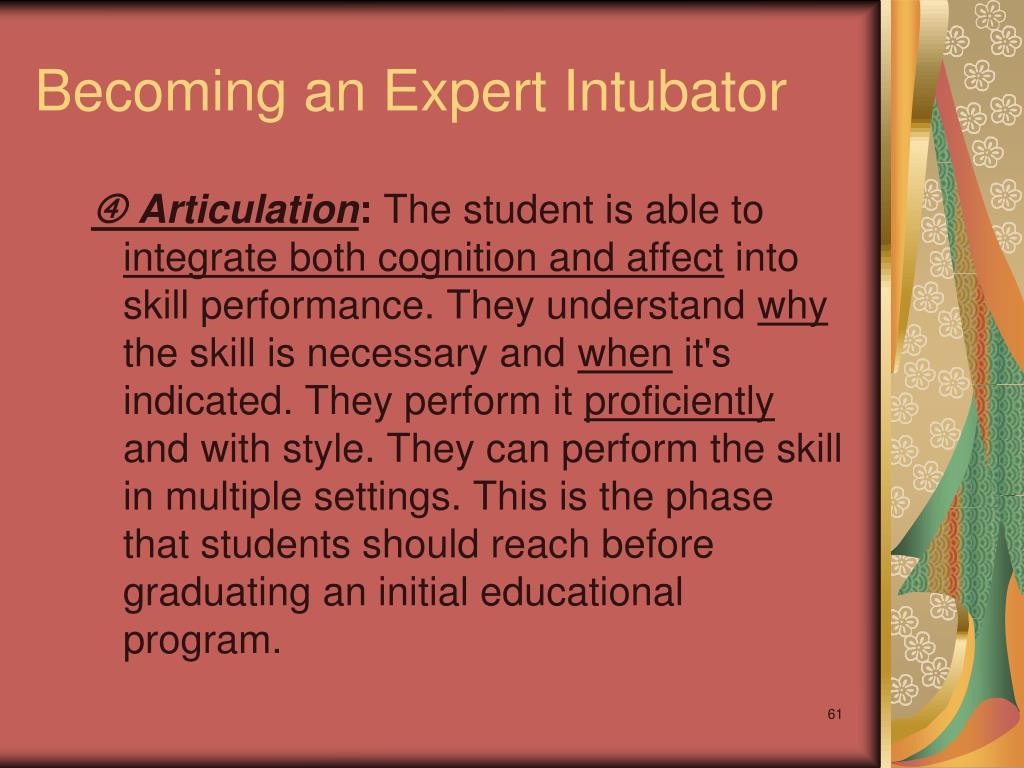 Becoming an Expert Intubator