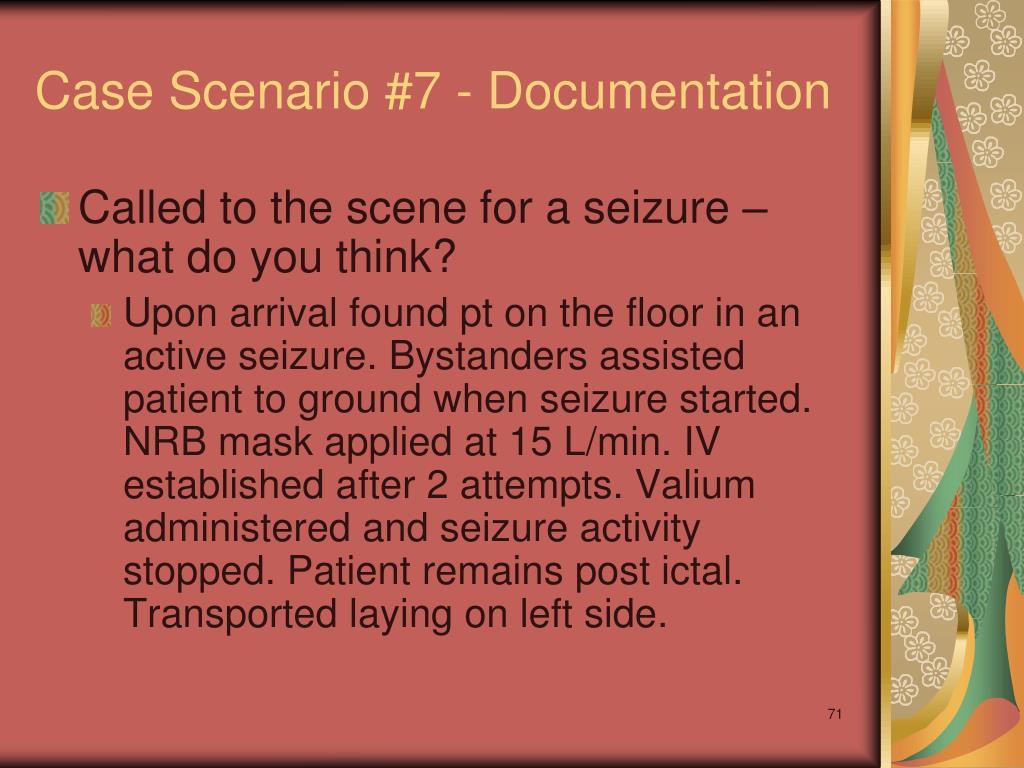 Case Scenario #7 - Documentation