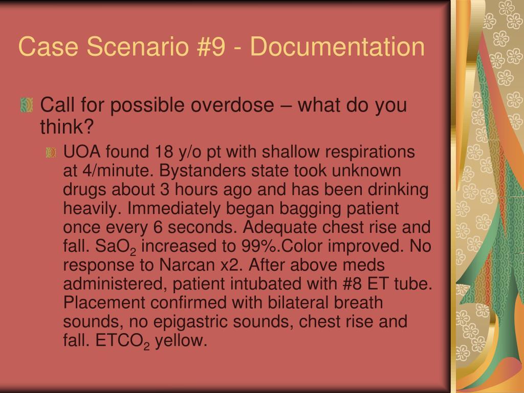 Case Scenario #9 - Documentation