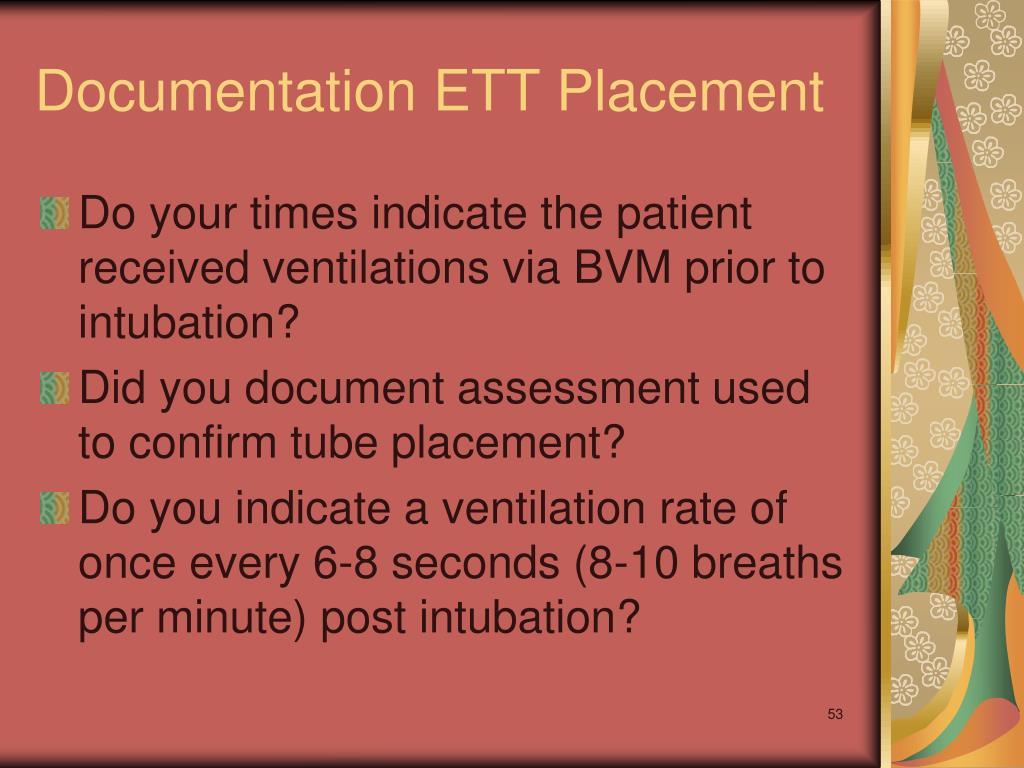 Documentation ETT Placement