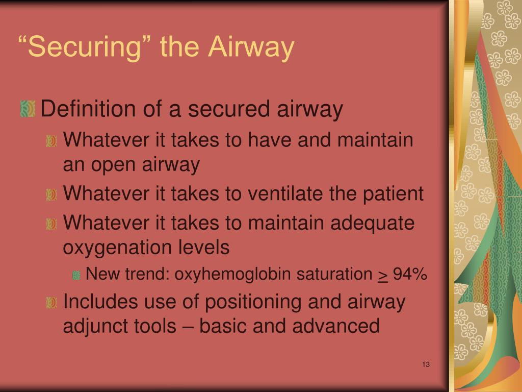 """""""Securing"""" the Airway"""