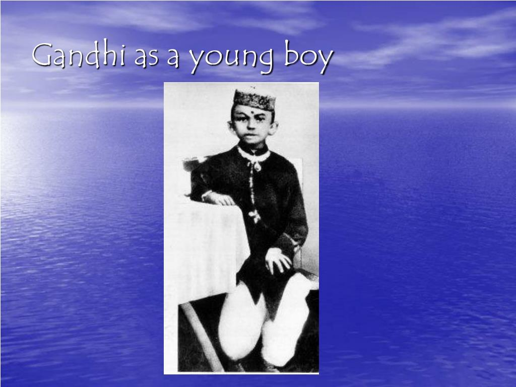 Gandhi as a young boy