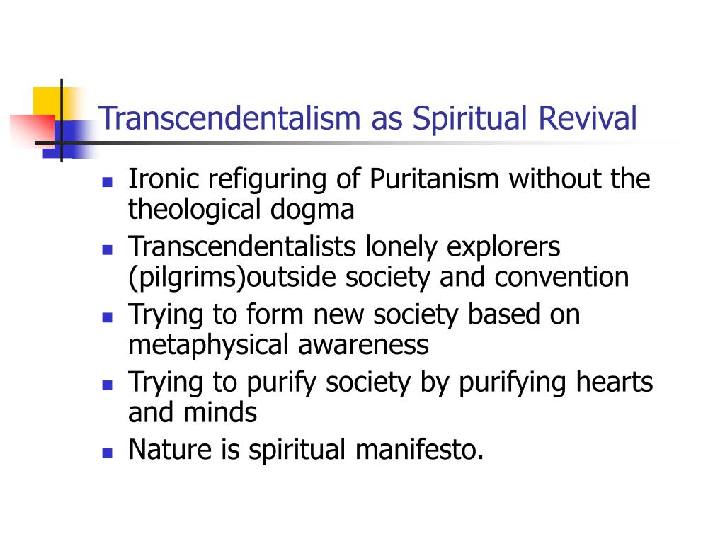 Transcendentalism as Spiritual Revival