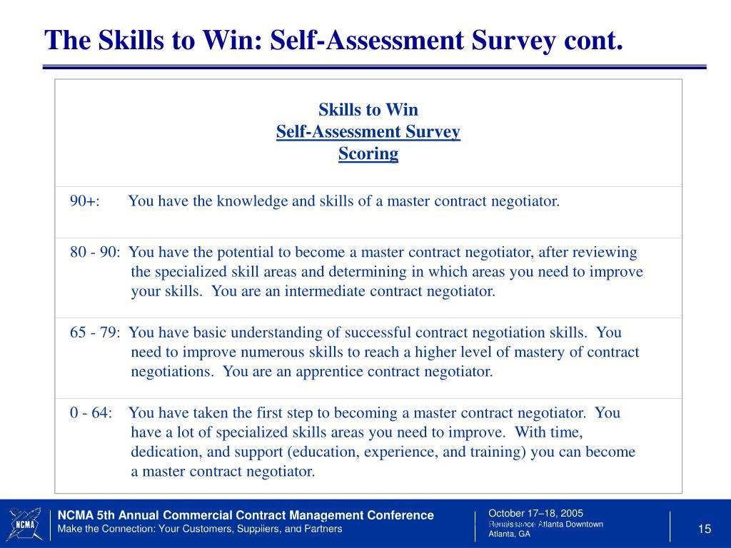 Skills to Win