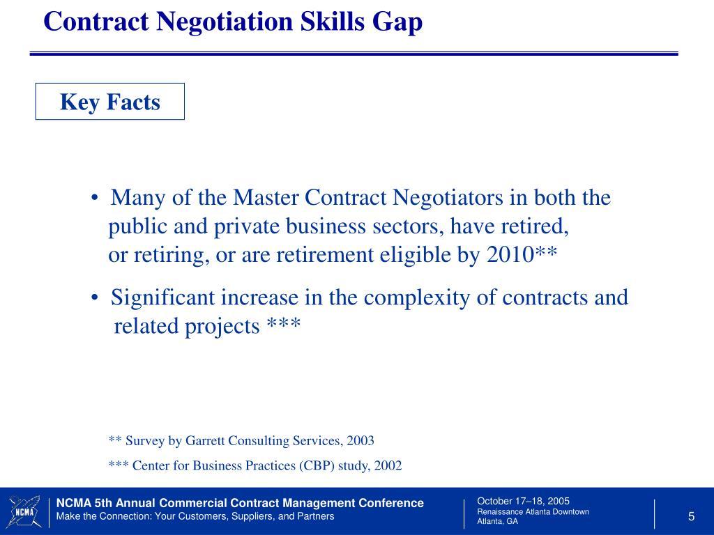 Contract Negotiation Skills Gap