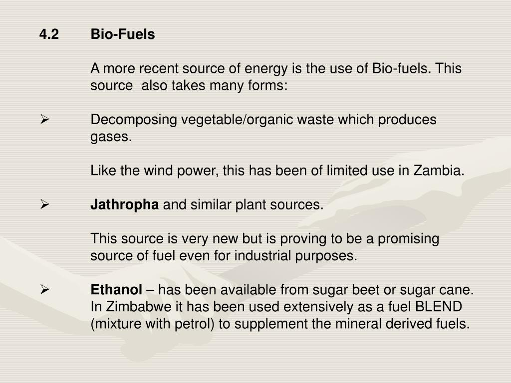 4.2Bio-Fuels