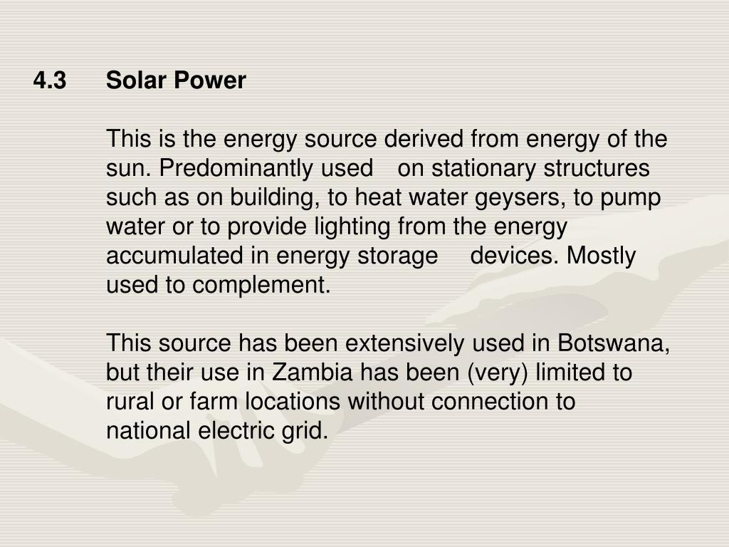 4.3Solar Power