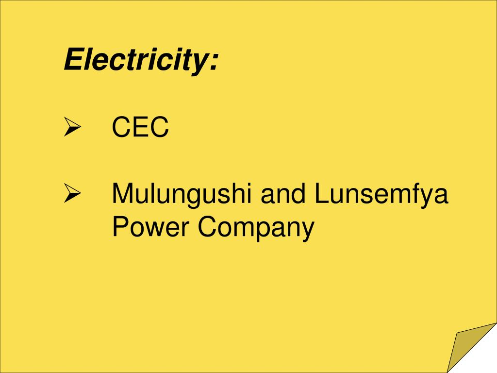 Electricity: