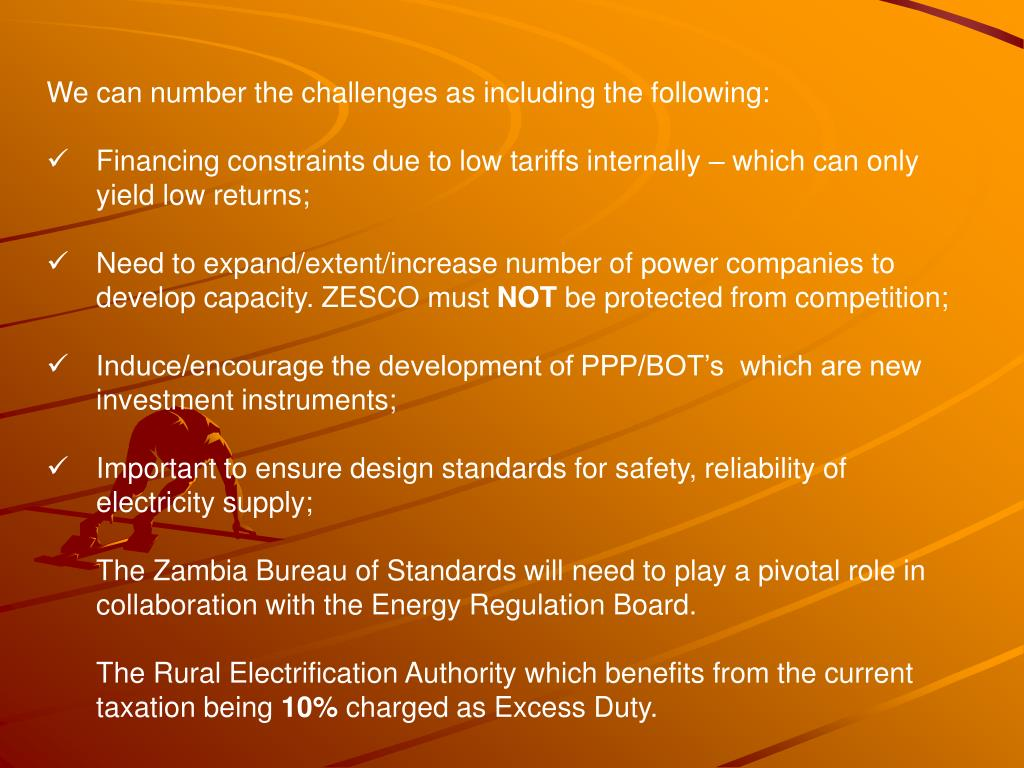 We can number the challenges as including the following: