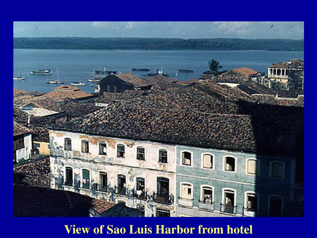 View of Sao Luis Harbor from hotel