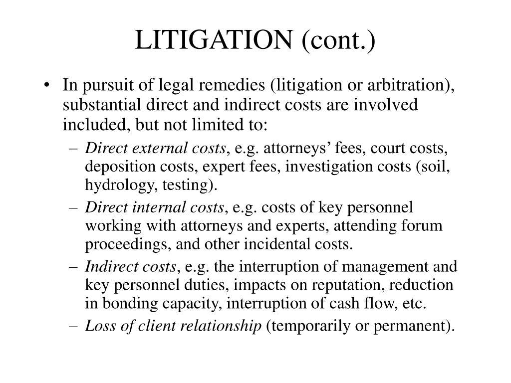 LITIGATION (cont.)
