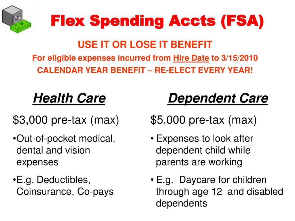 Flex Spending Accts (FSA)