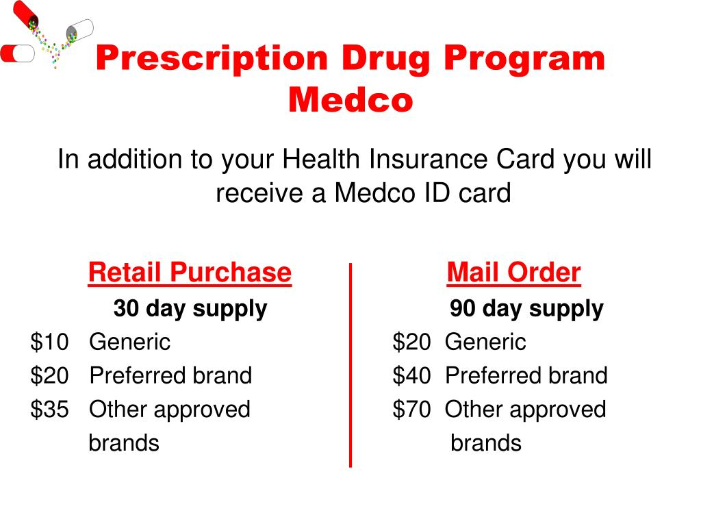 Prescription Drug Program Medco
