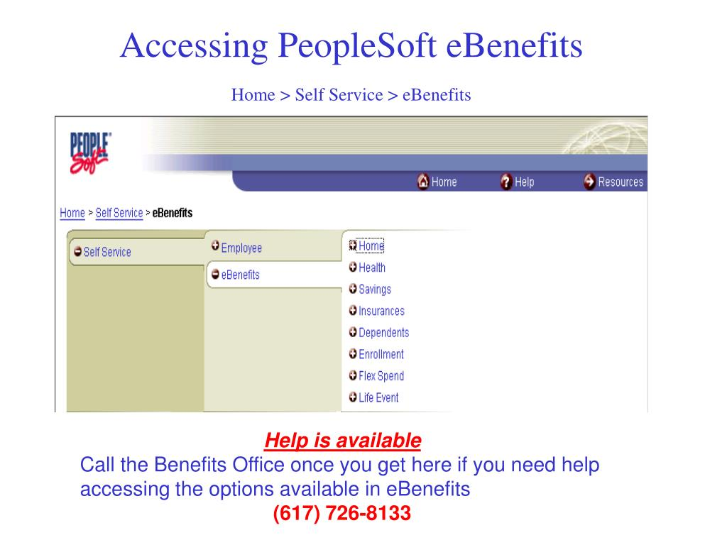 Accessing PeopleSoft eBenefits