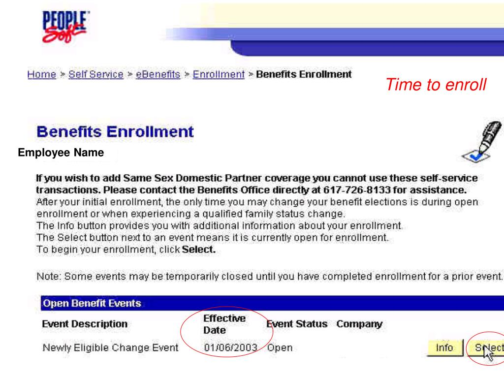 Time to enroll