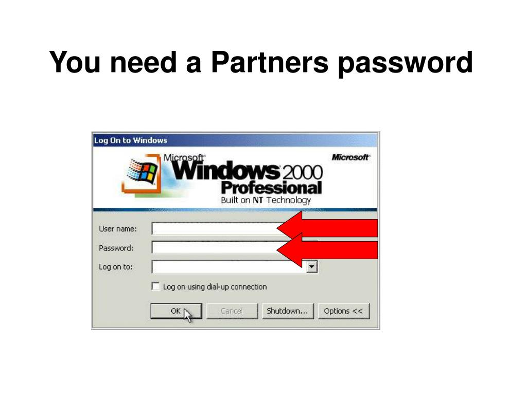You need a Partners password